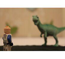 Stormtrooper VS. Dinosaur  Photographic Print