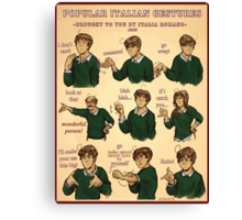Popular Italian Gestures brought to you by Italia Romano Canvas Print