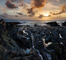 Jurassic Coast Sunset - Woolacombe Bay North Devon by Gareth Spiller