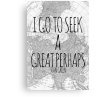 Great Perhaps Canvas Print