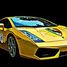 Lamborgini Gallardo 3/4 front view by Samuel Sheats