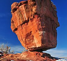Balanced Rock At Garden Of The Gods With Snow by pilgrims492003