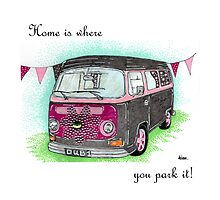 VW T2 Campervan Home is where you park it! by ACDesigns