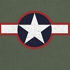 Vintage Look US Forces Roundel 1943 by VintageSpirit