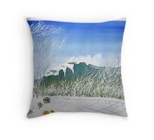 mt stirling in winter August 2013 Throw Pillow