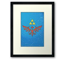 Vintage Look Zelda Link Hylian Shield Graphic Framed Print