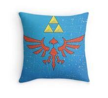 Vintage Look Zelda Link Hylian Shield Graphic Throw Pillow