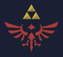 Vintage Look Zelda Link Hylian Shield Graphic Kids Clothes
