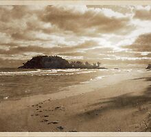 Footsteps In The Sand by Phil Perkins