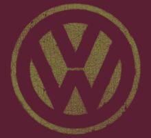 Vintage Look Volkswagen Logo Design by VintageSpirit