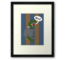 Male T-Rex Dinosaur in Suit Framed Print