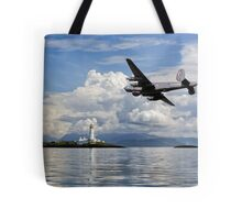 Shackleton over Lismore lighthouse Tote Bag