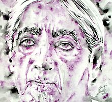 JIDDU KRISHNAMURTI watercolor portrait.4 by lautir