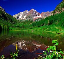 Maroon Bells Reflection by pilgrims492003