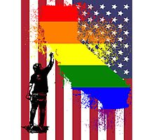 California Wall tagger Rainbow black Photographic Print