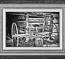 """""""Back to the Dump Rake, Boys"""" ... with a matted and framed look by © Bob Hall"""