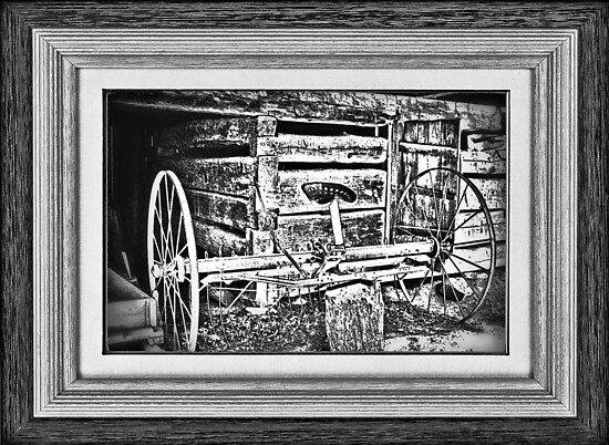 """Back to the Dump Rake, Boys"" ... with a matted and framed look by © Bob Hall"