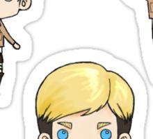 Levi, Erwin, Hanji - Stickers Sticker