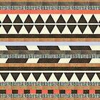 Neutral Aztec Design iPhone Case by sadeelishad