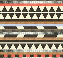 Neutral Aztec Design iPhone Case by sadeelishad