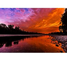 Sunset over the Confluence of the Wallace and Skykomish Rivers Photographic Print