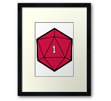 D20 Disasters Framed Print