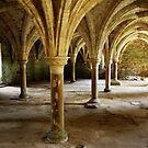 Battle Abbey Interior by Ludwig Wagner