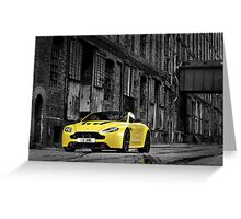 The new Aston Martin V12 Vantage S Greeting Card