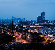 Barcelona at Night  by Sotiris Filippou
