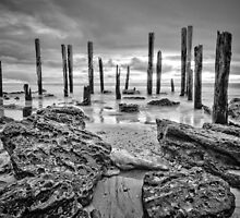 Port Willunga - Monochrome by AllshotsImaging