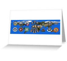 Fallen Soldier Battle Cross Veteran and 9/11 Memorial Wall Painting Greeting Card