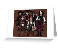 Johnny Depps Greeting Card