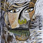 Barbarism (2) - Abstract head by Szilvia Ponyiczki