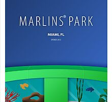 Minimalist Marlins Park - Miami by pootpoot