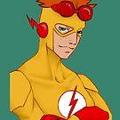 Kid Flash - iphone case by tobiejade