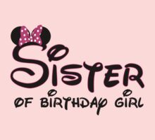 Sister of the birthday girl with Minnie Mouse ears by sweetsisters