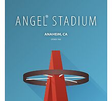 Minimalist Angels Stadium - Anaheim by pootpoot
