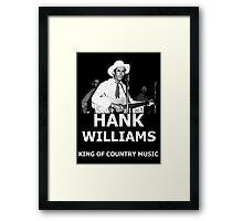 Hank Williams Sr. King Of Country Music Framed Print