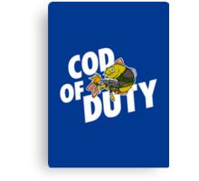 Cod Of Duty Canvas Print