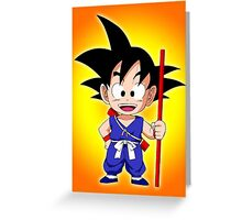 Goku Kid Greeting Card