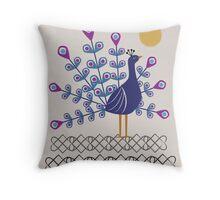 Gemmy Peacock Throw Pillow