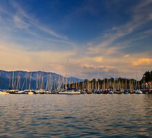 Boats on Attersee by Delfino