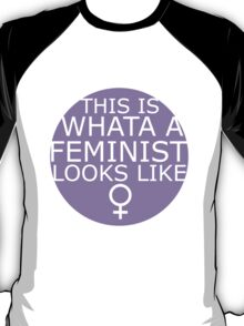 This Is What A Feminist Looks Like (purple) T-Shirt