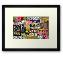 """Sign Language"" Framed Print"
