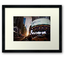Manhattanhenge Framed Print