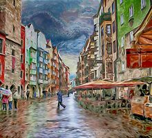 Innsbruck Street Scene by Dennis Granzow