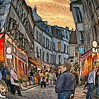 Paris Street Scene by Dennis Granzow