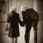 True Love inspirational wedding anniversary gift photography old couple holding hands by jemvistaprint