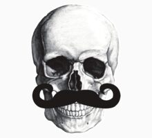 Skull With Mustache Kids Clothes