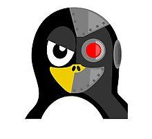 Cyborg Penguin Photographic Print